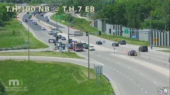 Minneapolis woman killed after truck hits pole in St. Louis Park