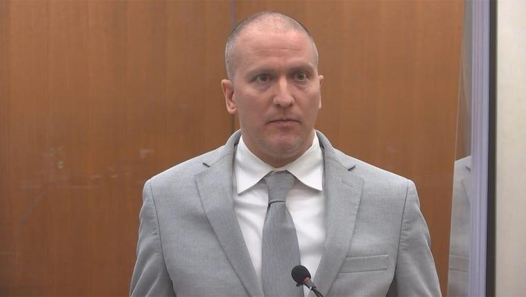 Derek Chauvin speaks at his sentencing on June 25, 2021.
