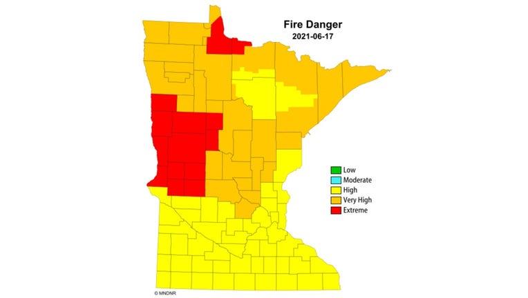 fire danger map