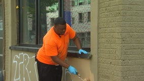 Group cleans up in Uptown after unrest