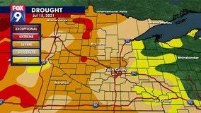 Drought intensifying in Minnesota