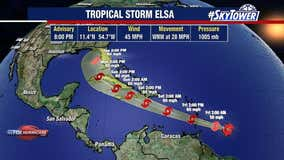 Tropical Storm Elsa forms as fifth named storm of hurricane season