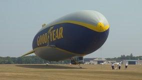 Goodyear blimp floats over Minnesota for 3M Open