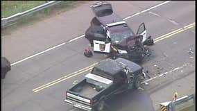 State Patrol involved in Sandstone crash on I-35 overpass