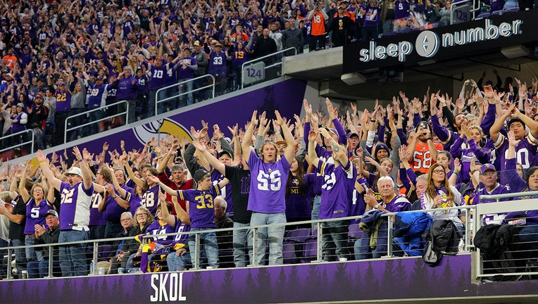 US Bank Stadium with fans GETTY