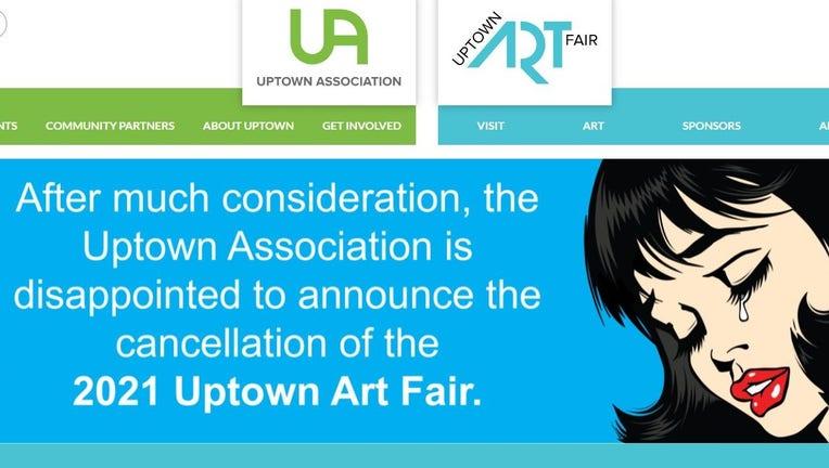 uptown art fair canceled