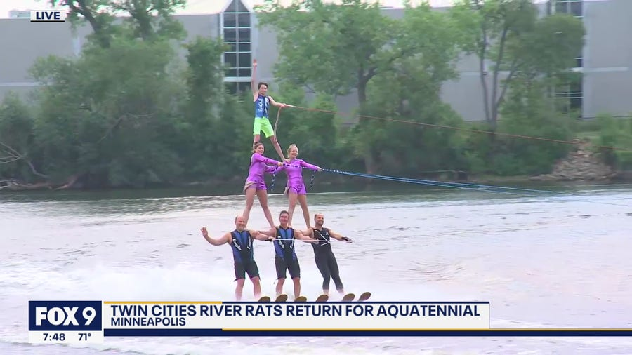 River Rats make a splash on the FOX 9 Morning News ahead of Aquatennial shows