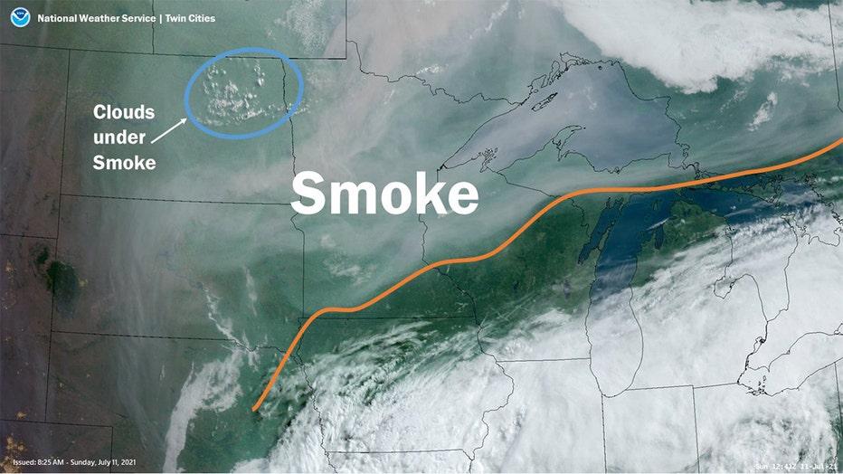 wildfire smoke NWS Twin Cities