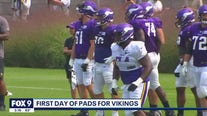 Vikings hold first day of pads at practice