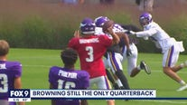 Browning still the only quarterback as Vikings continue practice