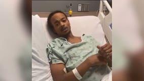 Blake, paralyzed in police shooting, hopeful he'll walk soon