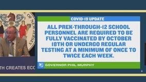 NJ to require COVID vaccine or regular tests for all school employees