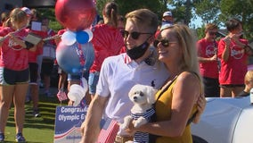 Olympic gymnast Shane Wiskus receives homecoming celebration from Tokyo Games