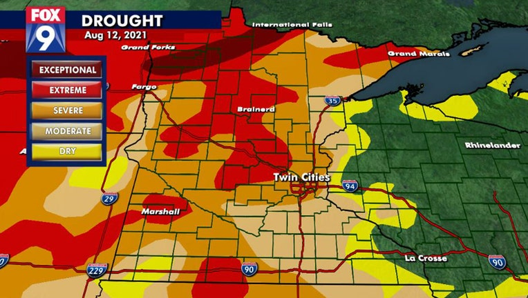 Drought monitor 8-12-21