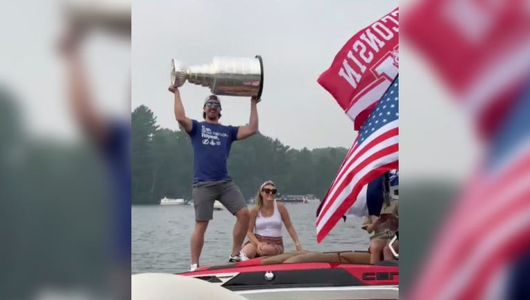 boat party Stanley Cup