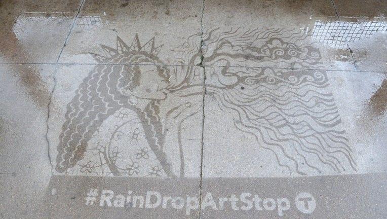 rain art Metro Transit