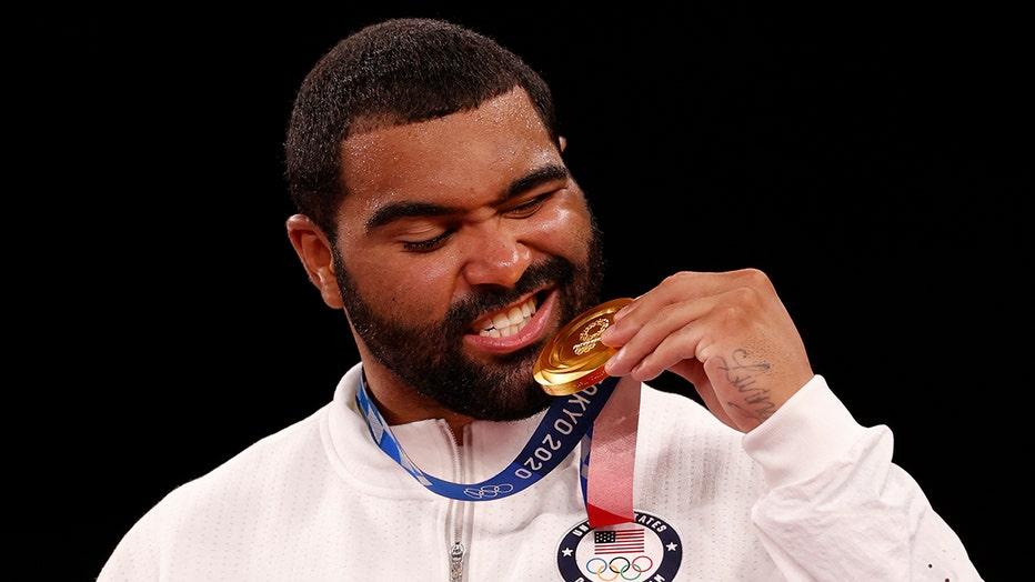 Gable Steveson gold medal GETTY