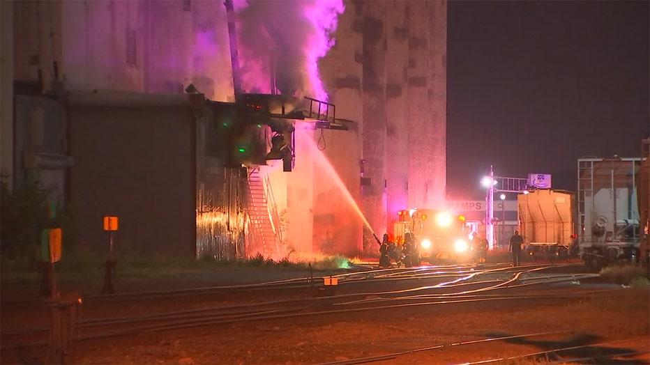 Minneapolis grain elevator fire