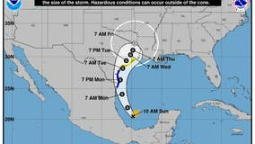 Tropical storm warnings issued for Texas, Mexico as Nicholas forms in Gulf