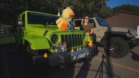 Jeep owners take stuffed duck on cross-country relay road trip for St. Jude's fundraiser