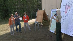 Gov. Walz, Senators Klobuchar and Smith tour damage of Greenwood wildfire