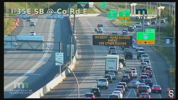Highways reopen after police situation closes I-694 at I-35E