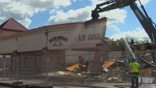 Crews begin demolition of Midway Shopping Center in St. Paul