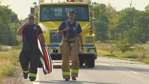 Minnesota firefighter walking 200 miles to raise awareness about firefighter health concerns