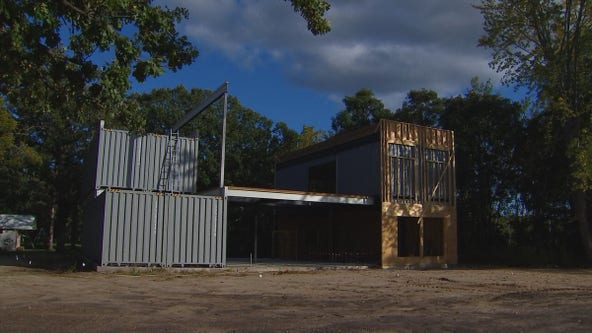 Thinking outside the box: Isanti couple builds home out of 6 shipping containers