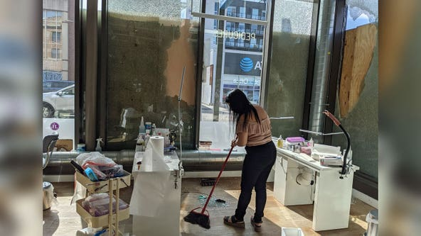 Little Luxuries Nail Lounge closes after damage from overnight shooting