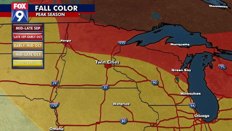 Peak season for fall colors across Minnesota.