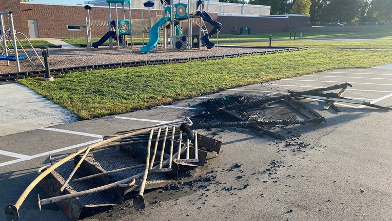 Howard Lake playground fire