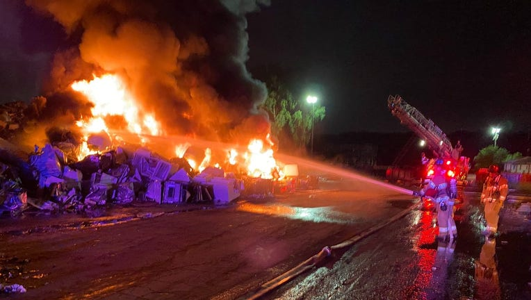 St. Paul recycling fire saturday