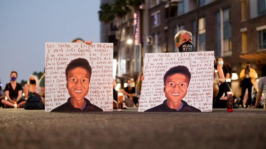 Laugh Factory Hosts Candlelight Vigil To Demand Justice For Elijah McClain