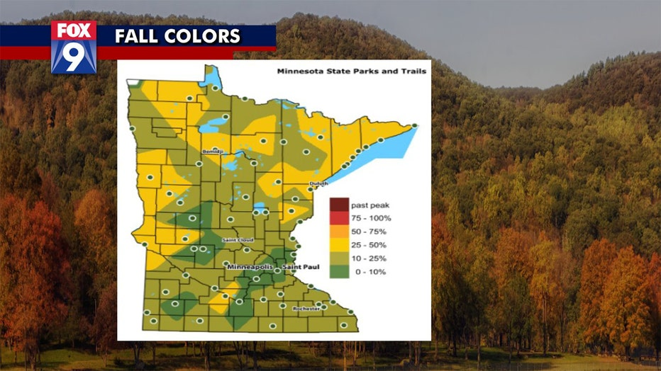 Fall colors as of September 22, 2021.