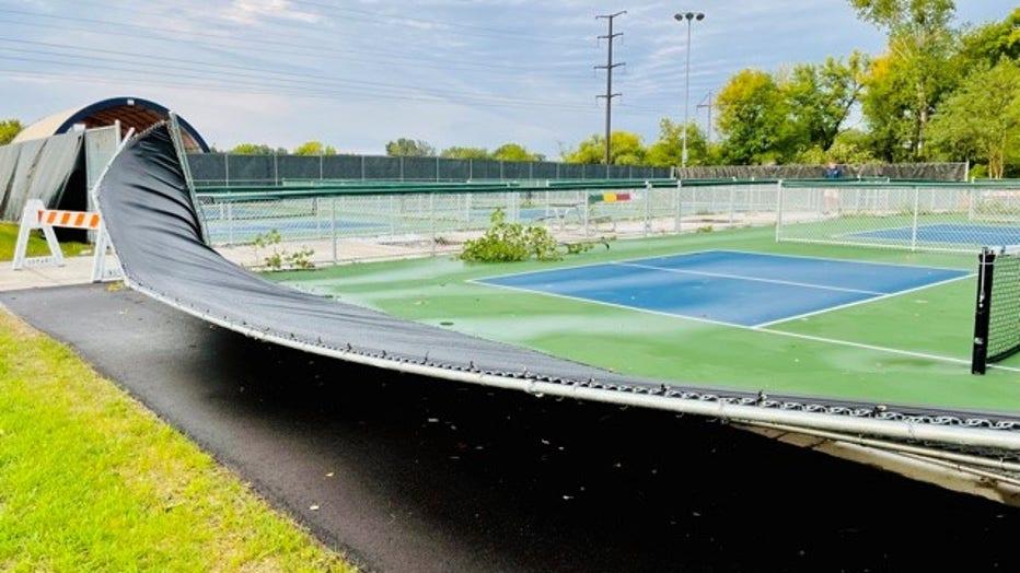 pickleball court damaged savage pd 1