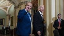 Biden hosts Manchin, Schumer in Delaware for budget talks