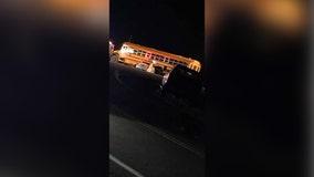 1 dead, 2 injured in school bus crash on Hwy. 212 in Carver County