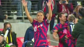 Fans celebrate US Soccer legend Carli Lloyd's retirement game in Minnesota