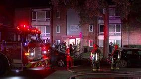 Crews respond to fire at Minneapolis apartment building