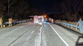 Semi-truck hauling old beer crashes in Winona County