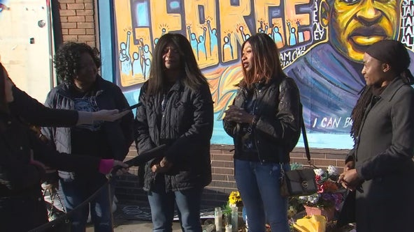 George Floyd's birthday: Celebration held at 38th and Chicago