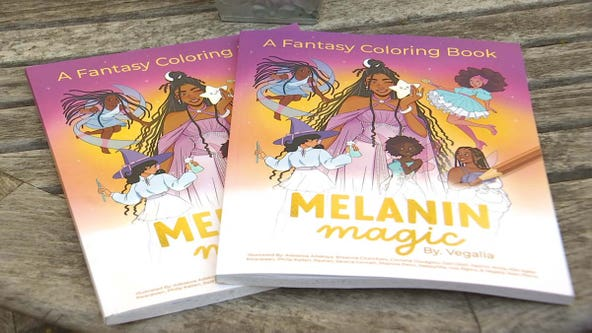 Plymouth artist creates 'Melanin Magic: A Coloring Book Featuring Fantasy Beings of Color'