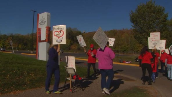 ER union nurses begin 3-day strike for fair pay at Allina's WestHealth in Plymouth