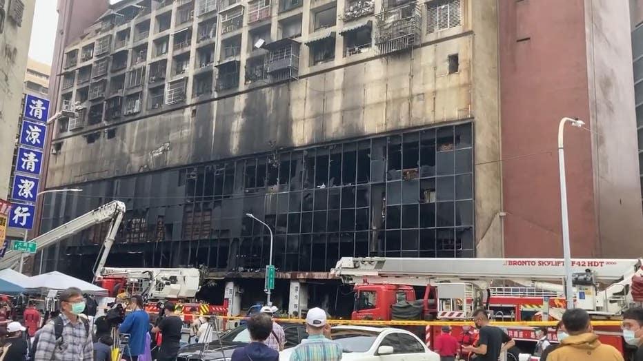 Taiwan Building fire