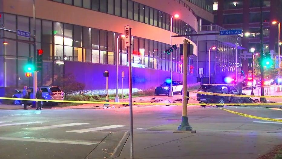 Minneapolis deadly crash and shooting