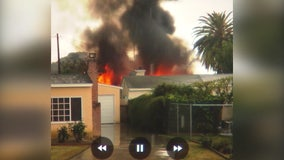 New exclusive video of house fire in Whittier