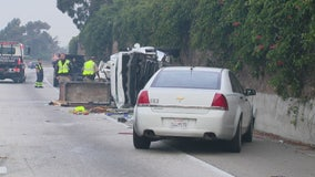 Pickup driver killed after colliding with big rig in Riverside