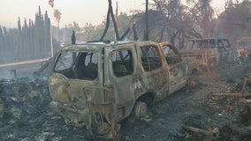 Woolsey Fire: Flames destroy structures, cars in Thousand Oaks