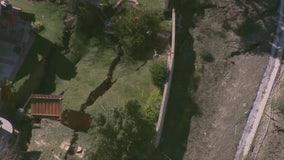 Shifting land causing backyards to collapse in Santa Clarita